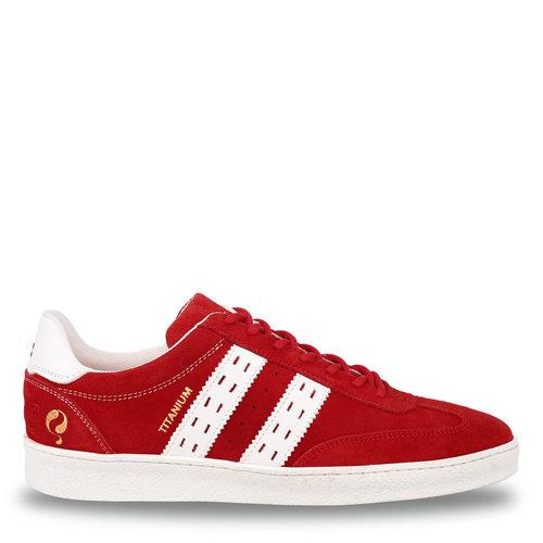 Heren Sneaker Titanium  -  Rood/Wit