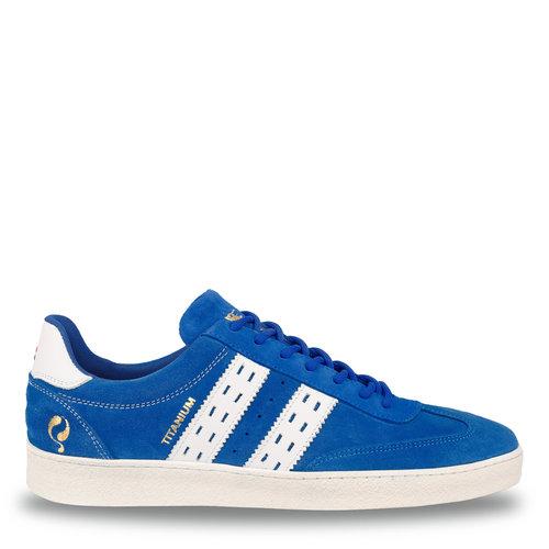 Heren Sneaker Titanium  -  Hard Blauw/Wit
