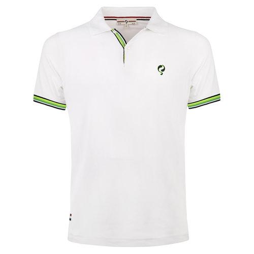 Heren JL Polo  -  Wit (Groen)