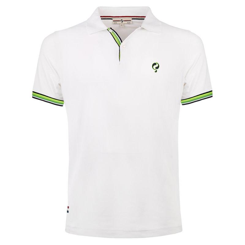 Q1905 Heren JL Polo  -  Wit (Groen)