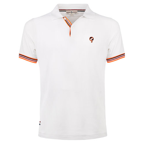 Men's Polo Joost Luiten  -  White (Orange)
