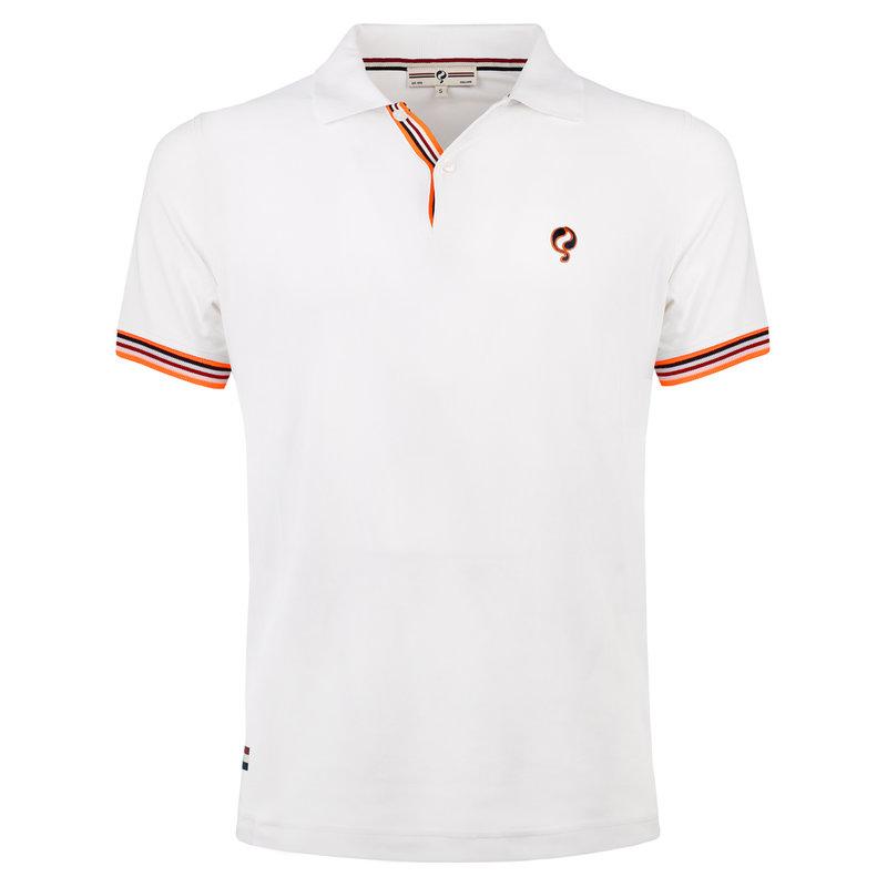 Q1905 Heren Polo Joost Luiten  -  Wit (Oranje)