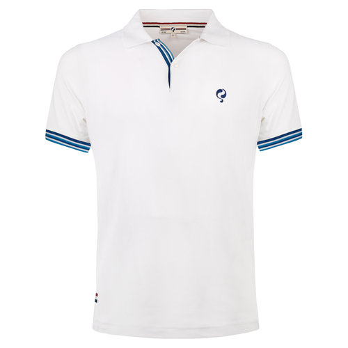 Men's Polo Joost Luiten  -  White (Blue)