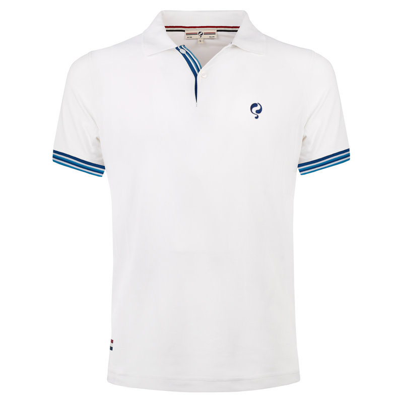 Q1905 Men's Polo Joost Luiten  -  White (Blue)