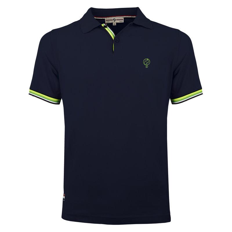 Q1905 Heren Polo Joost Luiten  -  Donkerblauw (Groen)