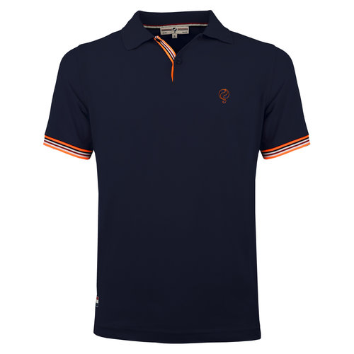 Men's Polo Joost Luiten  -  Dark Blue (Orange)