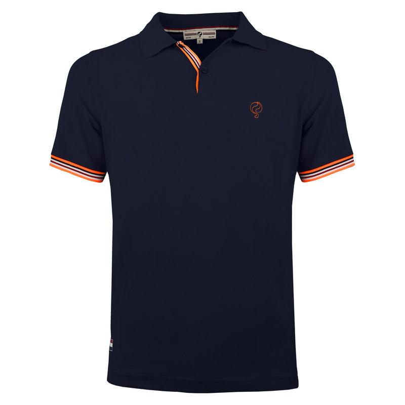 Q1905 Men's Polo Joost Luiten  -  Dark Blue (Orange)
