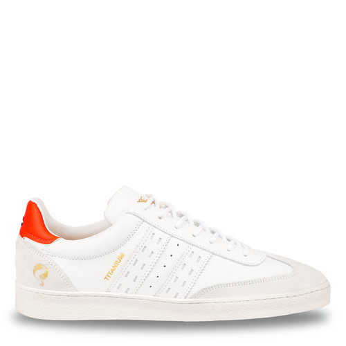 Men's Sneaker Titanium  -  White/Neon Orange