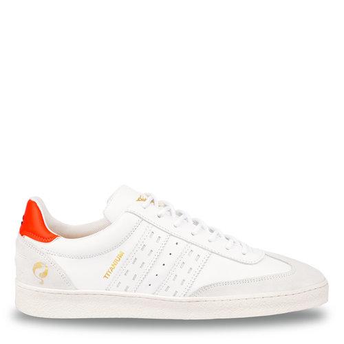 Men's Sneaker Titanium  -  White/Neon Orange