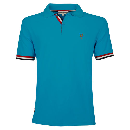 Heren JL Polo  -  Donker Turquoise