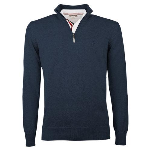 Heren Pullover Stoke  -  Jeans Blauw