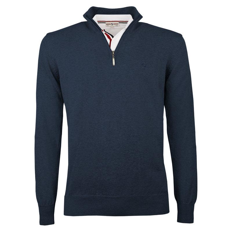 Q1905 Heren Pullover Stoke  -  Jeans Blauw