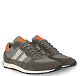 Q1905 Men's Sneaker Kijkduin  -  Grey/Neon Orange
