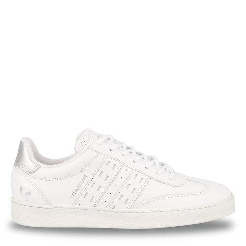 Women's Sneaker Titanium  -  White/Silver