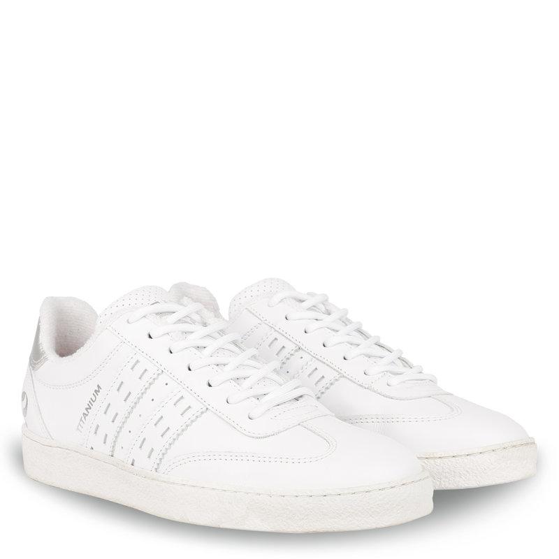 Q1905 Dames Sneaker Titanium  -  Wit/Zilver