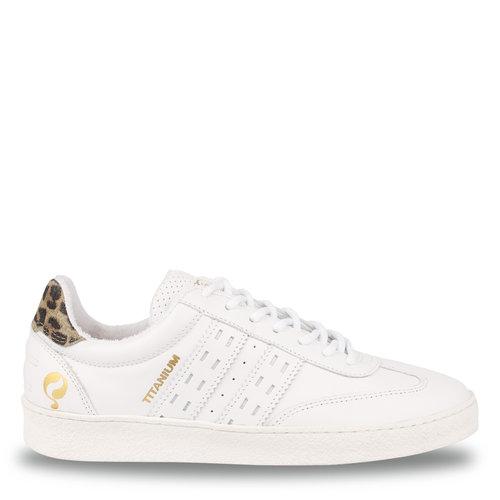 Women's Sneaker Titanium  -  White/Taupe