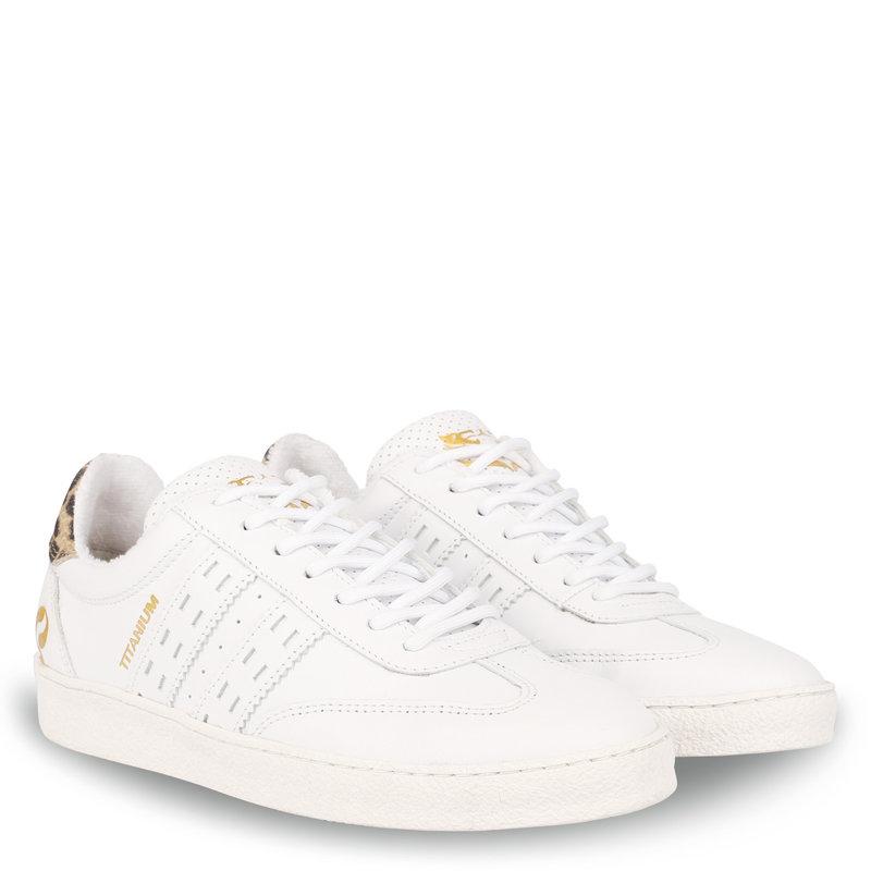 Q1905 Women's Sneaker Titanium  -  White/Taupe