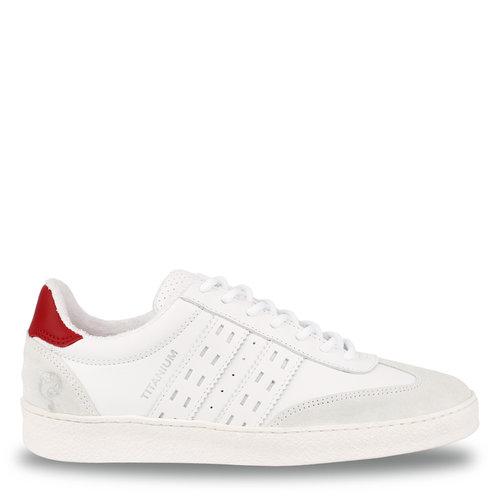 Women's Sneaker Titanium  -  White/Red