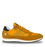 Q1905 Heren Sneaker Kijkduin  -  Oker Geel/Donkerblauw