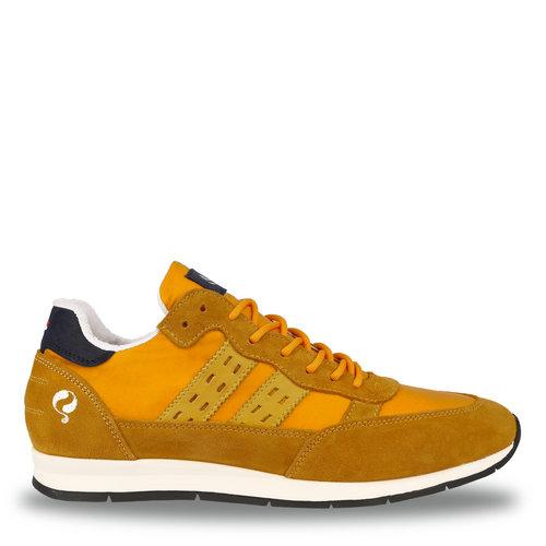 Heren Sneaker Kijkduin  -  Oker Geel/Donkerblauw