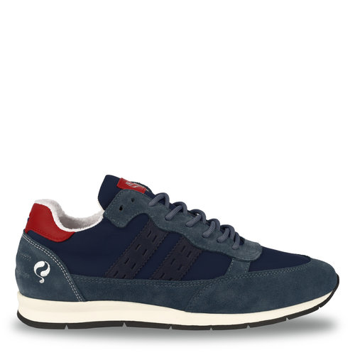 Heren Sneaker Kijkduin  -  Denim Blauw/Rood