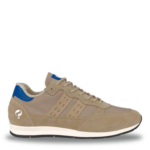 Heren Sneaker Kijkduin  -  Taupe/Hard Blauw