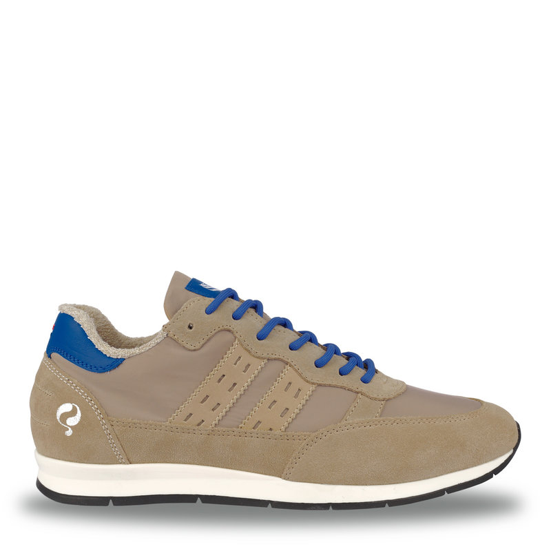 Q1905 Men's Sneaker Kijkduin  -  Taupe/Hard Blue