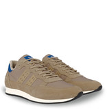 Q1905 Heren Sneaker Kijkduin  -  Taupe/Hard Blauw
