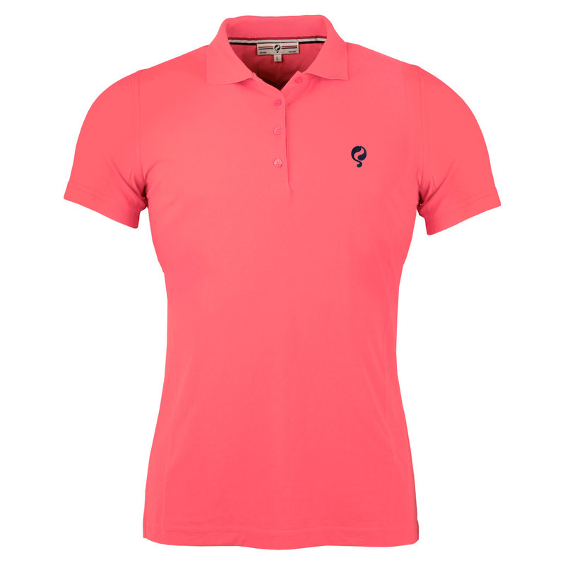 Q1905 Women's Golf Polo Square Scarlet Pink