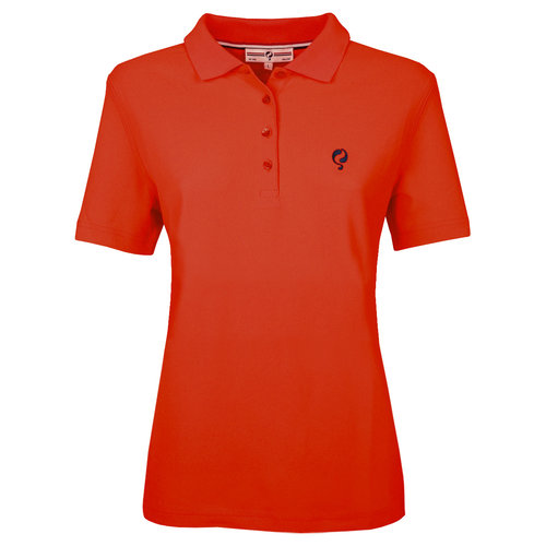 Dames Polo Square  -  Oranje Rood