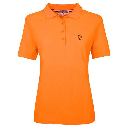 Dames Polo Square  -  Zacht Fluor Oranje