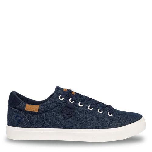 Heren Sneaker Laren  -  Donker Denim Blauw