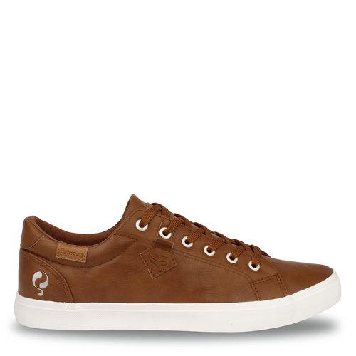 Heren Sneaker Laren  -  Cognac (Lederlook)