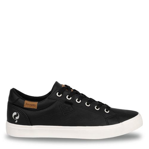 Heren Sneaker Laren  -  Zwart (Lederlook)