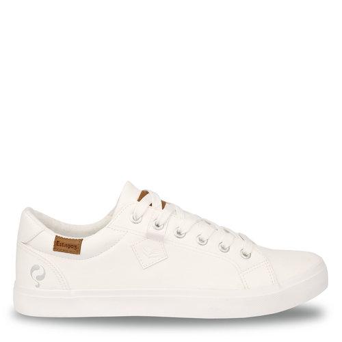 Heren Sneaker Laren  -  Wit (Lederlook)