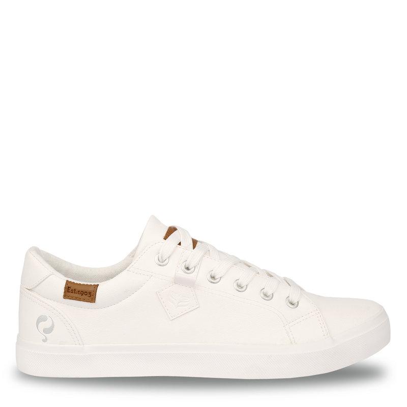 Q1905 Heren Sneaker Laren  -  Wit (Lederlook)