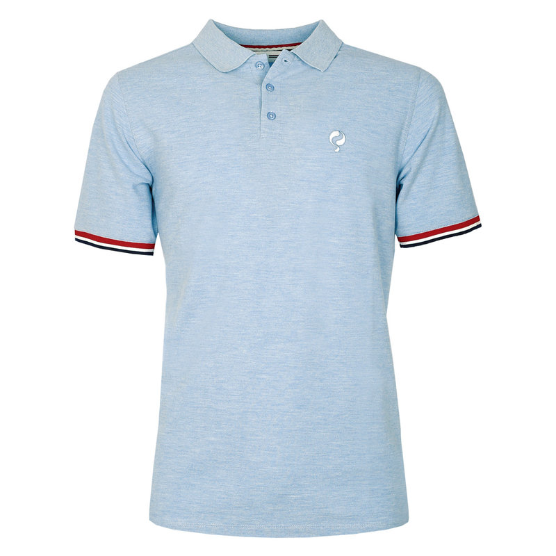Q1905 Heren Polo Bloemendaal  -  Hemelsblauw