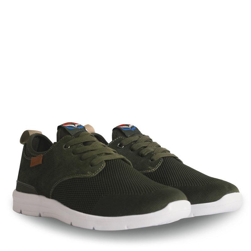 Q1905 Heren Sneaker Woudenberg  -  Legergroen