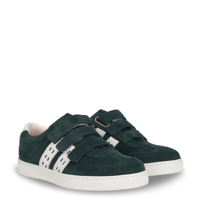 Q1905 Kids Sneaker Legend '69 JR Velcro Dark Teal / White