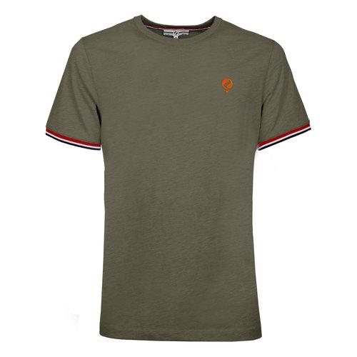 Heren T-shirt Katwijk  -  Kakigroen