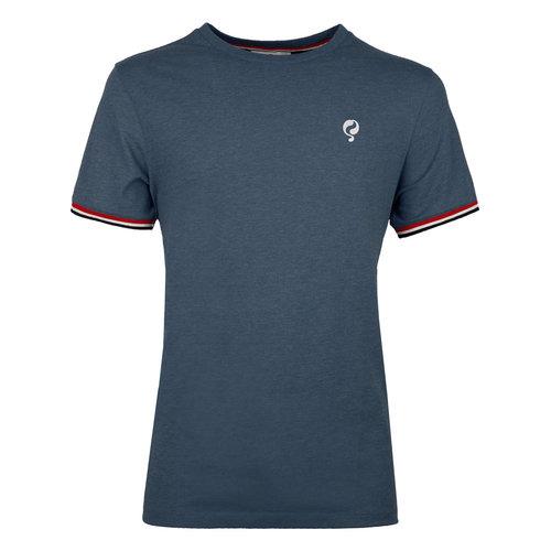 Heren T-shirt Katwijk  -  Denim Blauw