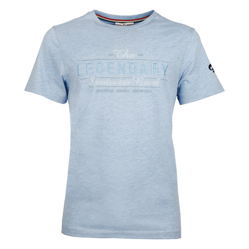 Heren T-shirt Texel  -  Hemelsblauw