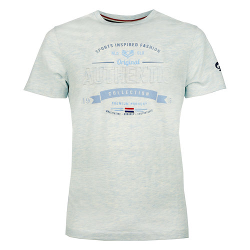 Heren T-shirt Domburg  -  Lichtblauw