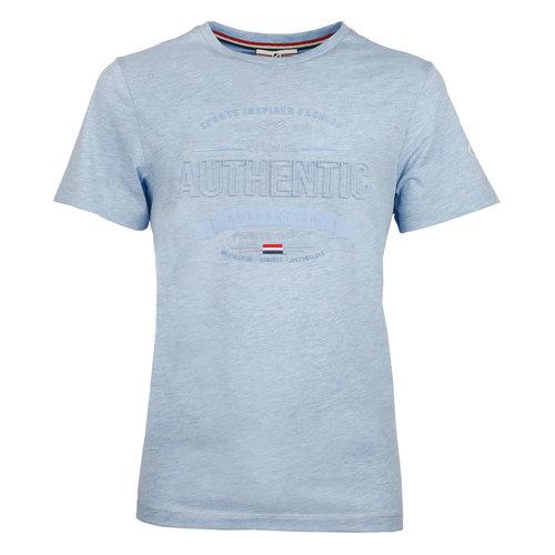 Heren T-shirt Domburg  -  Hemelsblauw