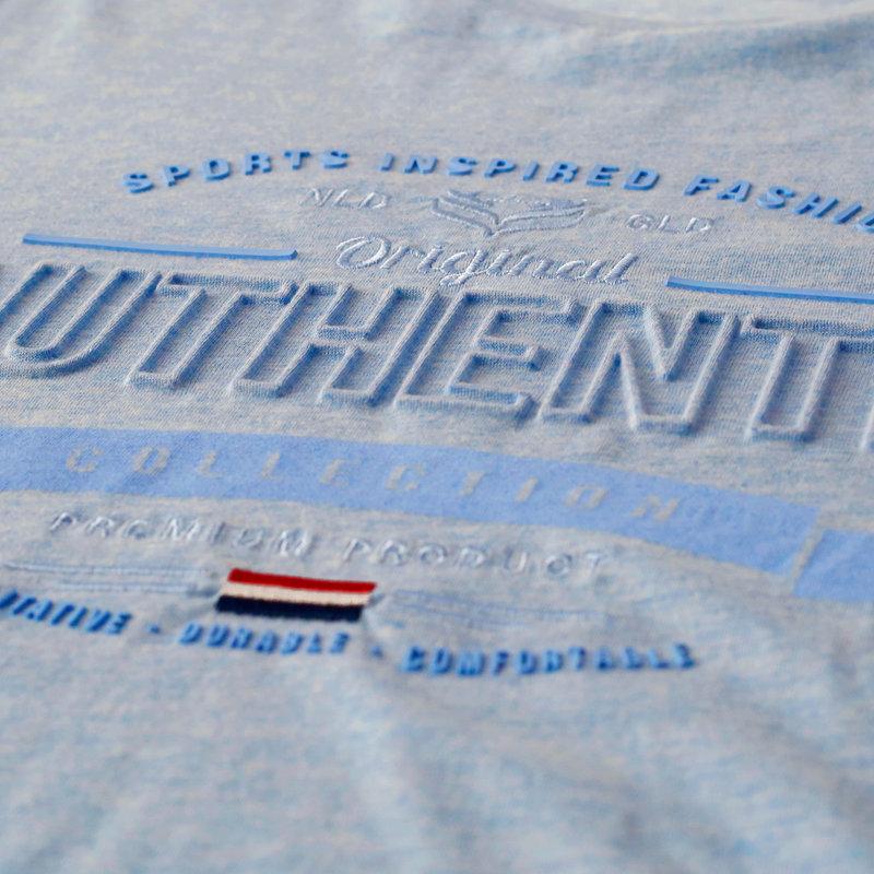 Q1905 Heren T-shirt Domburg  -  Hemelsblauw