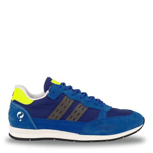 Heren Sneaker Kijkduin  -  Hardblauw/Neon Geel