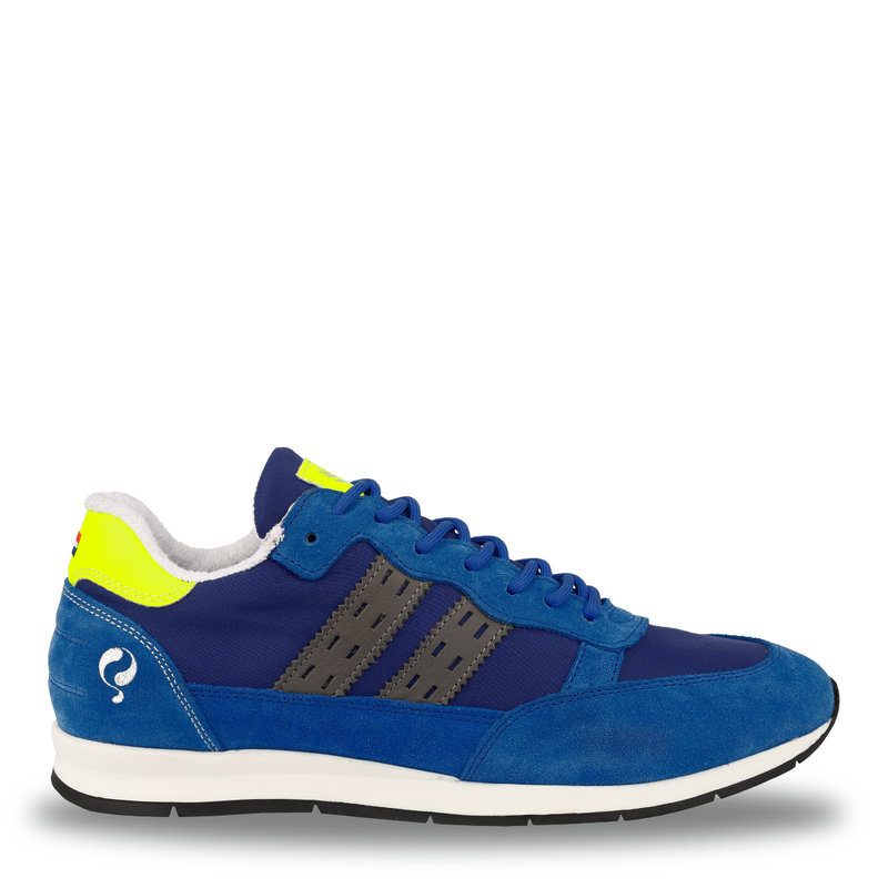 Q1905 Men's Sneaker Kijkduin  -  Hard Blue/Neon Yellow