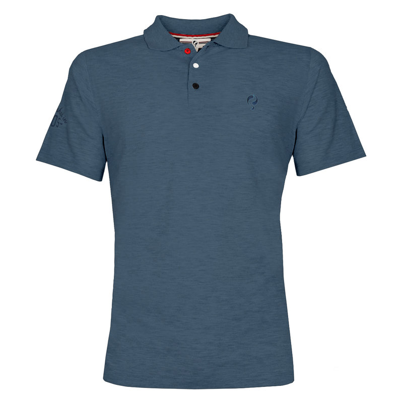 Q1905 Heren Polo Willemstad  -  Denim Blauw