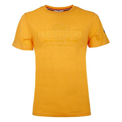 Heren T-shirt Texel  -  Okergeel