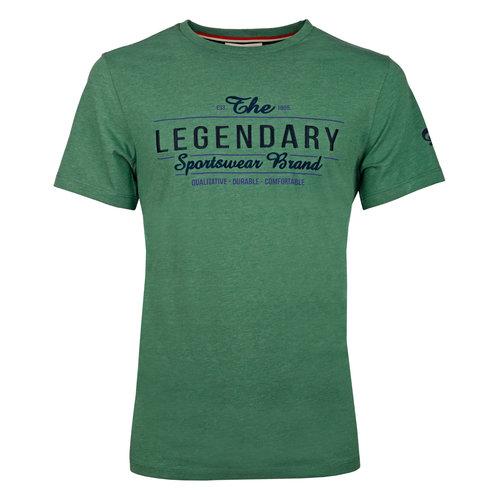 Heren T-shirt Texel  -  Zeegroen